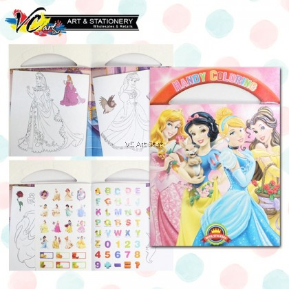 **Ready Stock** B5 size Cartoon Coloring Children Activity Book - Kid colouring book / activity book / creative