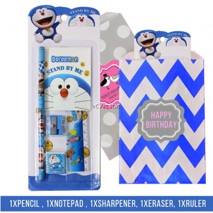 *Ready Stock* Birthday Pencil Stationery Set (with Notepad) for Goodies Gift Idea -Per Pack