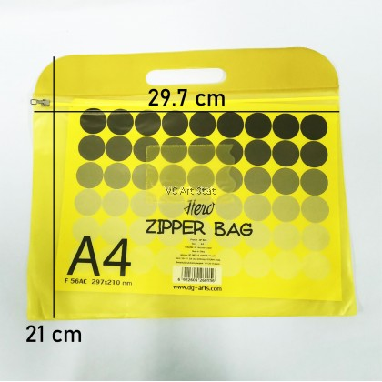 A4 Colour Zipper Bag (297x210mm)