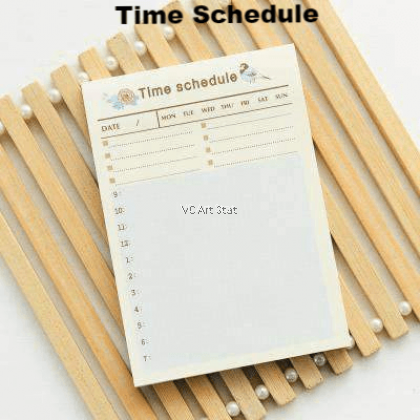 """60 Sheet Small to Do List Sticky Notes and Planner with Checklist Stick On Notes 4""""x2.8"""" (Korean Style)"""