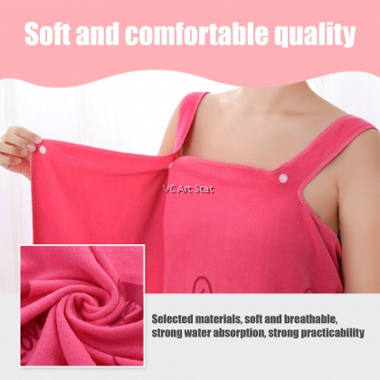 **Strong Absorb** Wearable Bath Towel 75 x 34cm (Tuala Mandi / Tuala Serap Air / Tuala Pakai)