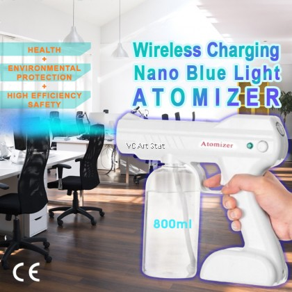 Wireless Rechargeable Nano Blue Light Atomizer Disinfection Sprayer