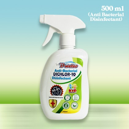 Dwellso Instant Hand Sanitizer & Anti-Bacterial DICHLOR-10 Disinfectant (Kill 99.9% Germs & Bacteria)