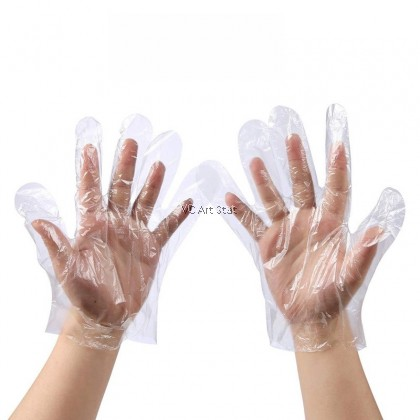 **100 Piece** Plastic Food Safe Disposable Gloves (Disposable Food Prep Gloves)